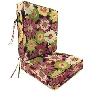 Jordan Manufacturing Spun Polyester Orlato Blackberry Deep Seat Chair Cushon