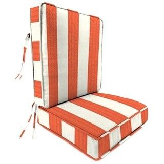 Jordan Manufacturing Sunbrella Cabana Flame Deep Seat Chair Cushion