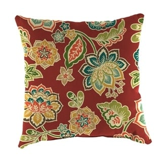 Jordan Manufacturing Indoor/ Outdoor Dejana Sangria Spun Polyester Wicker Pillow