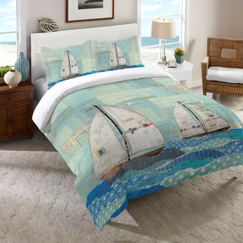 Laural Home Sailing the Seas Comforter