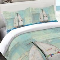 Laural Home Sailing the Seas Standard Pillow Sham