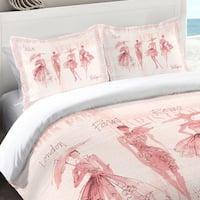 Laural Home Pink Fashion Divas Standard Pillow Sham