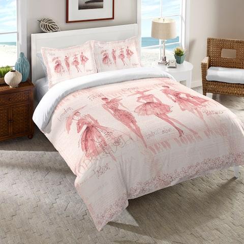 Laural Home Pink Fashion Divas Comforter