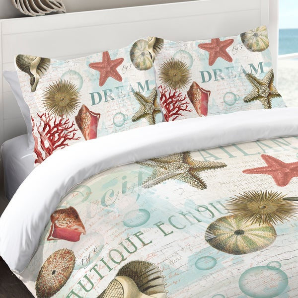 Laural Home Dream Beach Shells Collage Standard Pillow Sham