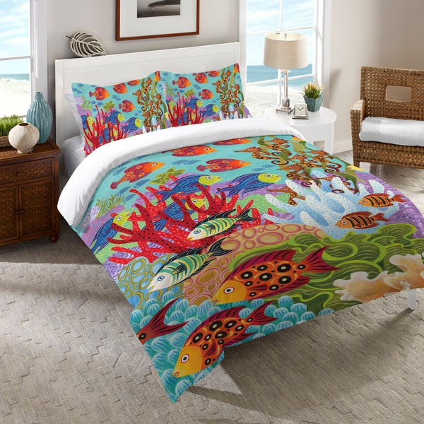 Laural Home Colorful Fish Comforter. Opens flyout.