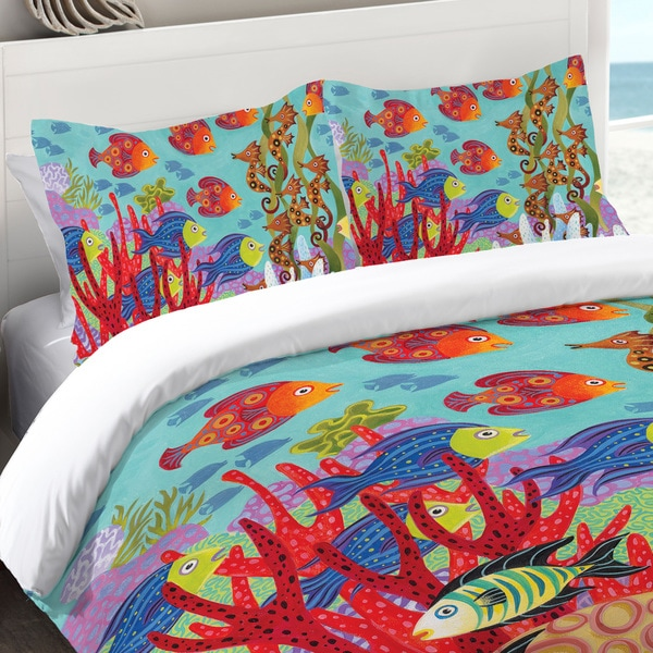Laural Home Colorful Fish Standard Pillow Sham