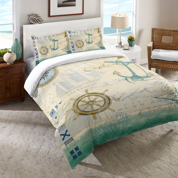 Laural Home Nautical Journey Duvet Cover