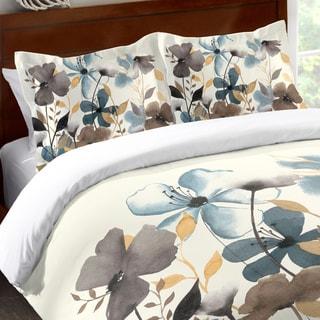 Laural Home Greige Flowers Standard Pillow Sham