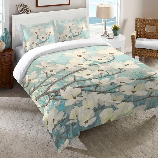 Laural Home Flowering Dogwood Blossoms Duvet Cover