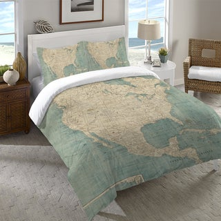 Laural Home Map of North America Duvet Cover