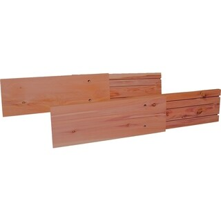 Unfinished Natural Red Cedar Wood Drawer Dividers (2 Pack)