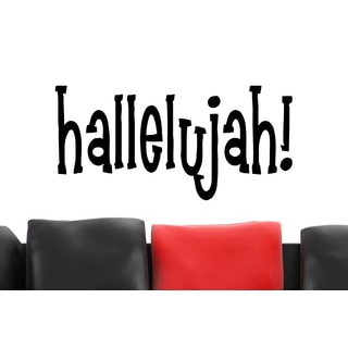 Inscription Hallelujah Wall Art Sticker Decal