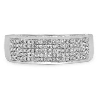 Elora 14k White Gold 1/2ct TDW Round Diamond Anniversary Band Wedding Ring (H-I, I1-I2)