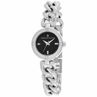 Christian Van Sant Women's CV0211 Sultry Round Silver-tone Stainless Steel Bracelet Watch