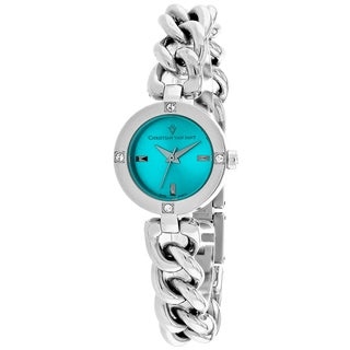 Christian Van Sant Women's CV0212 Sultry Round Silver-tone Stainless Steel Bracelet Watch