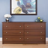 Laurel Creek Easton Warm Cherry 6-drawer Dresser Chest