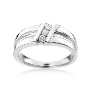 Andrew Charles 14k White Gold Men's 1/4ct TDW Diamond Ring (H-I, SI1-SI2)