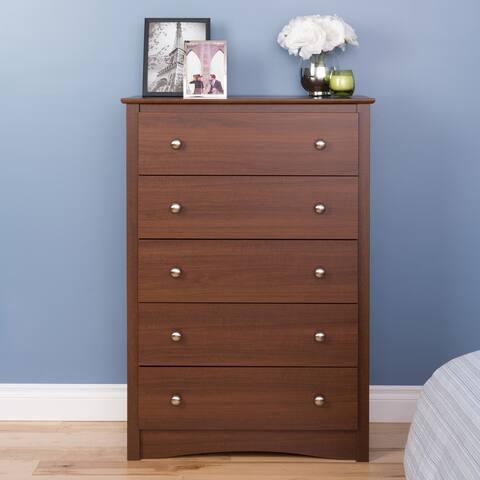 Copper Grove Parkhill Warm Cherry 5-drawer Dresser Chest
