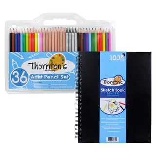 Thornton's Art Supply 8.5in x 11in Spiral Sketch Pad with 36 Count Artist Pencil