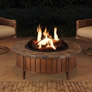 Sunjoy Carmel Slate Top 40-inch Round Fire Pit