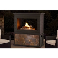 48 inch propane gas outdoor fireplace free shipping today sunjoy napa slate and steel 63 inch lp fireplace teraionfo