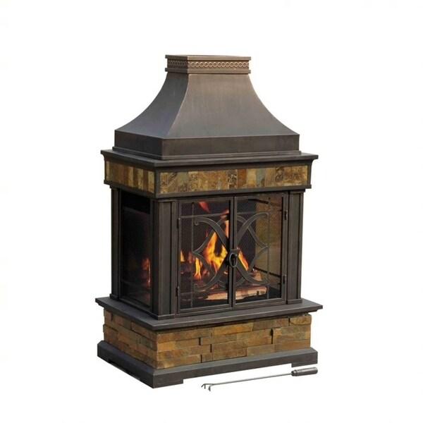 """Sunjoy Heirloom 56"""" Steel Fireplace"""