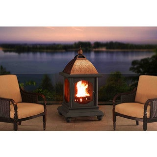 Sunjoy St. Peter Steel with Copper Finish Outdoor Fireplace