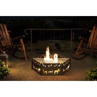 Sunjoy Cowboy Camp Fire Pit 51-inch Steel