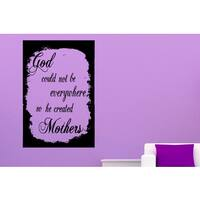 The inscription in the frame Why God Created Mothers Wall Art Sticker Decal