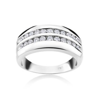 Andrew Charles 14k White Gold Men's 7/8ct TDW Diamond Ring