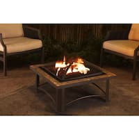Sunjoy Casper 30-inch Slate and Steel Fire Pit