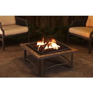 Sunjoy Casper 30-inch Slate and Steel Fire Pit