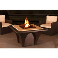 Sunjoy Artemus 32-inch Steel and Faux Stone Fire Pit