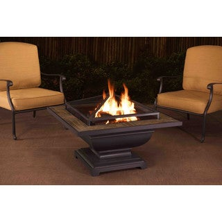 Sunjoy Agos Slate Top Square 36-inch Fire Pit
