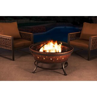 Sunjoy 35-inch Steel with Copper Finish Fire Pit