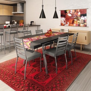 Amisco Stage Metal Chairs and Annex Extendable Table Dining Set