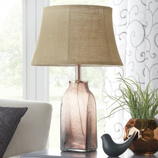 TRIBECCA HOME Leighton Mason Style Glass Table Lamp
