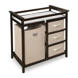 Badger Basket Espresso Modern Hamper Storage Changing Table