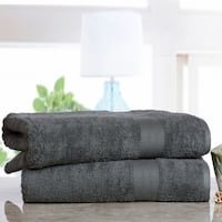 Soft and Absorbent Cotton Economic Bath Sheet (Set of 2)