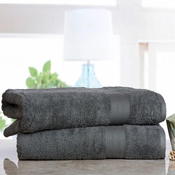 Soft and Absorbent Cotton Economic Bath Sheet (Set of 2)