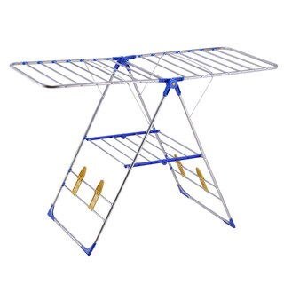 Blue Gullwing Style Stainless Steel Clothes Drying Rack