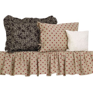 Raspberry Dot Cotton Bedding Set