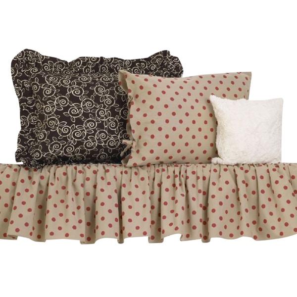 Raspberry Dot Cotton Bedding Set