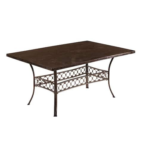 Hillsdale Furniture Brescello Rectangle Dining Table - Charcoal