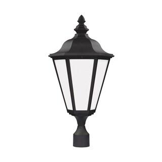 Sea Gull Brentwood 1 Light Black Outdoor Fixture