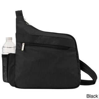 Travelon Anti-Theft Classic Messenger Style Crossbody Messenger Bag (Option: Black)
