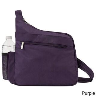 Travelon Anti-Theft Classic Messenger Style Crossbody Messenger Bag (Option: Purple)