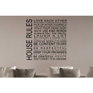 Just words House Rules Wall Art Sticker Decal
