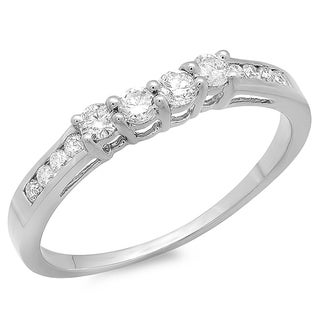 14k White Gold 1/3ct TDW Round Diamond Anniversary Wedding Ring (H-I, I1-I2)