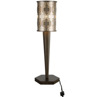 Varaluz Iconic 1-light Champagne Mist Table Lamp